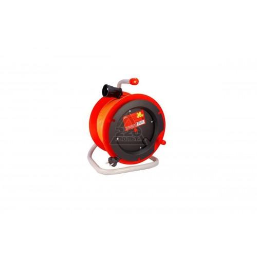 Удлинитель на катушке LUX К1-О-30 ПВС  30м 2х0.75мм, 10А 1100-2200Вт, 1 розетка (2)