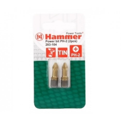 Бита Hammer Flex 203-124 PB PZ-2 25mm (2pcs)  TIN, 2шт.
